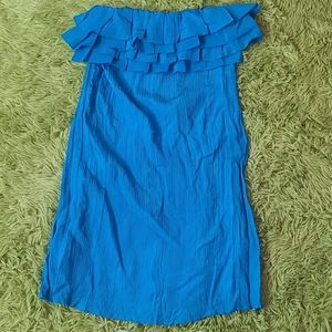 Ali Ro sleeveless  ruffle neck dress